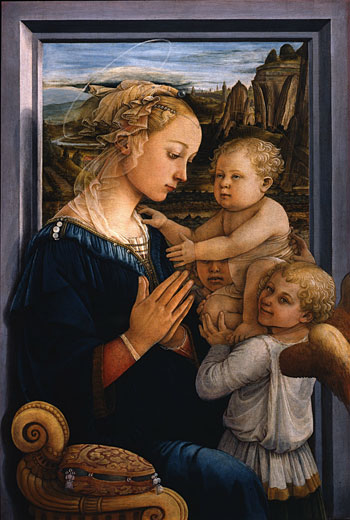 Madonna with Child and two Angels by Filippo Lippi