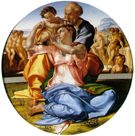 Resultado de imagen de la sagrada familia personas en el arte