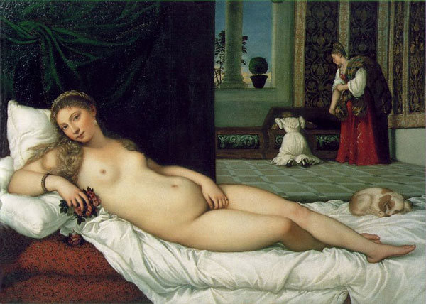 Venus of Urbino by Titian at Uffizi Gallery Florence
