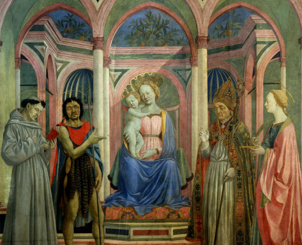 Santa Lucia de' Magnoli Alterpiece by Domenico Veneziano