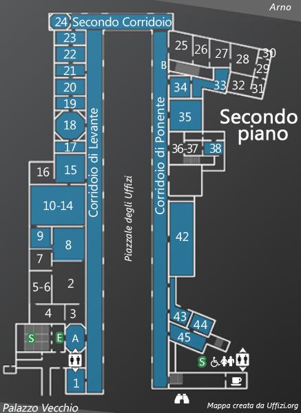 Mappa secondo piano