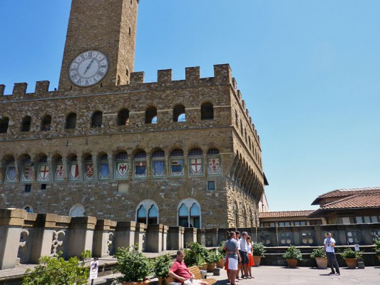 The Uffizi terrace by the cafeteria