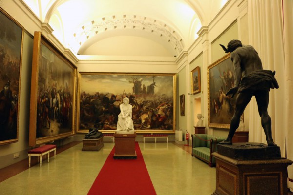 Just one of the many rooms of the Modern Art Gallery