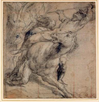 tiziano-falling-knight-horse